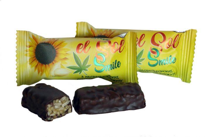 Конфеты «El Sol Smile» с семенами конопли, подсолнуха и кунжута