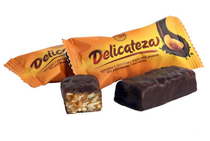 Конфеты «Delicateza» с изюмом и арахисом