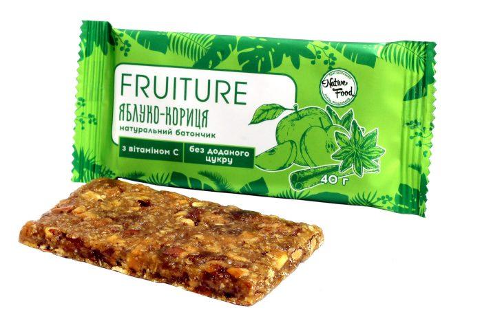 Батончики «Fruiture» яблоко-корица