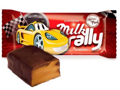 Конфеты «Milk Rally» из сгущенного молока с карамельным ароматом