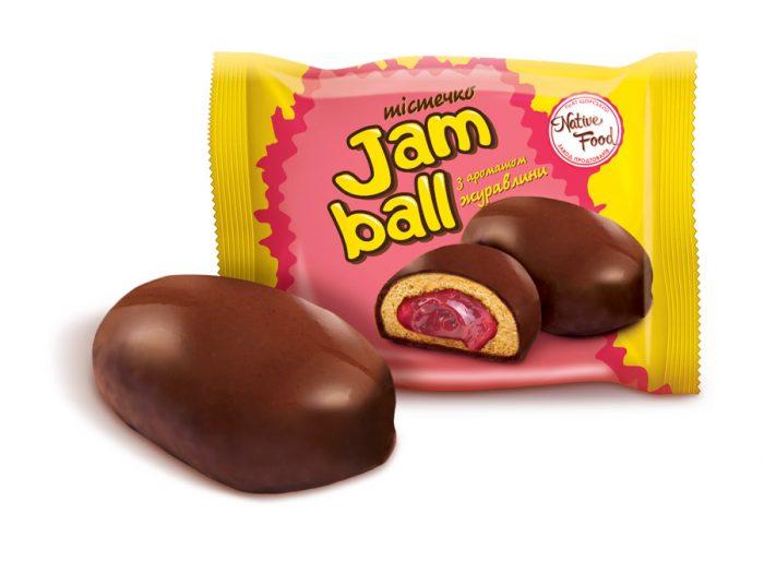 Пирожное «Jam Ball» с ароматом клюквы