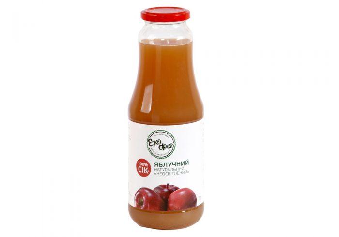 Сок яблочный натуральный неосветленный
