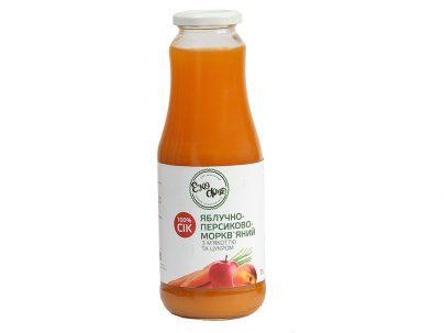 Сок яблочно-морковно-персиковый с мякотью