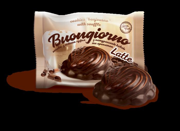 Печенье «Бонжорно» с кофе и ароматом Latte