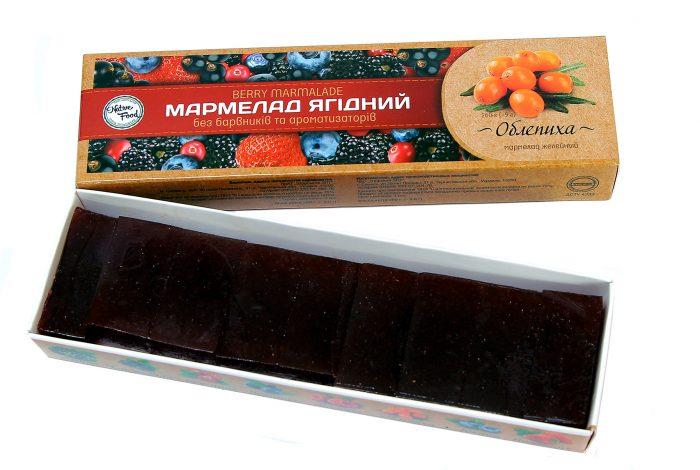 Мармелад ягодный «Облепиха»