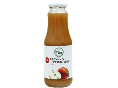 Сок яблочно-персиковый с мякотью